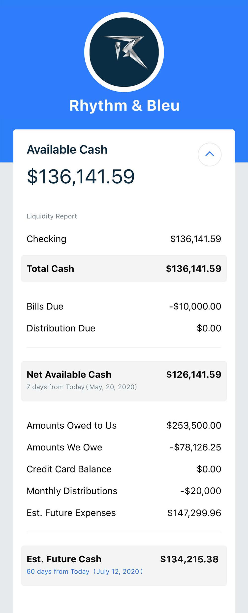 Available Cash Module