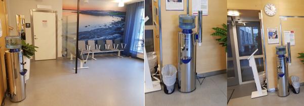 Vattenautomat i väntrum