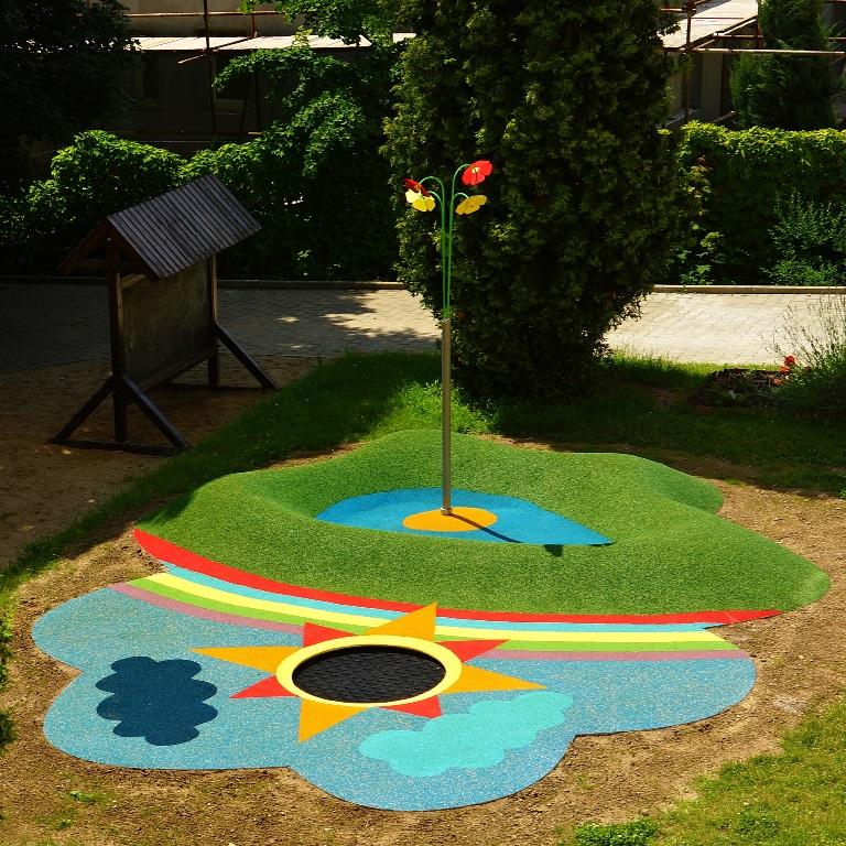 Utomhusdusch med vattendimma för lekplatser