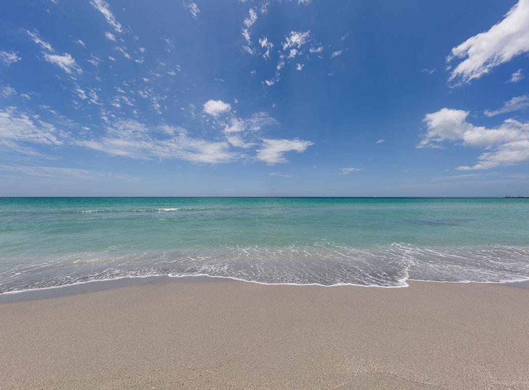 Beach wave at Suncoast Florida
