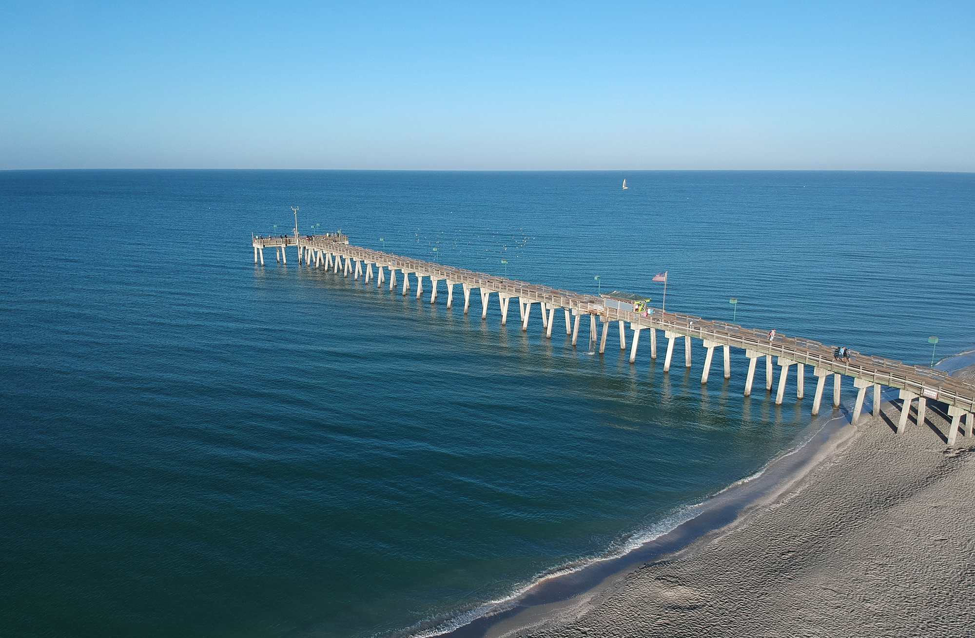 Aerial of pier at Suncoast Florida