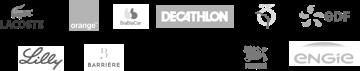 Exemples de logos clients Supermood