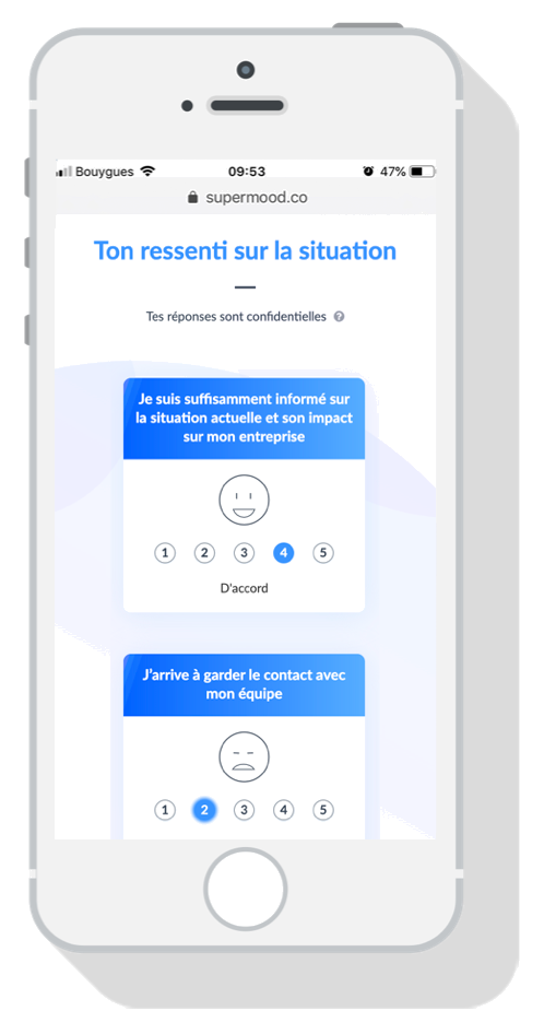 Application mobile Supermood