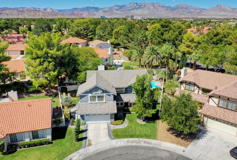 aerial view las vegas home