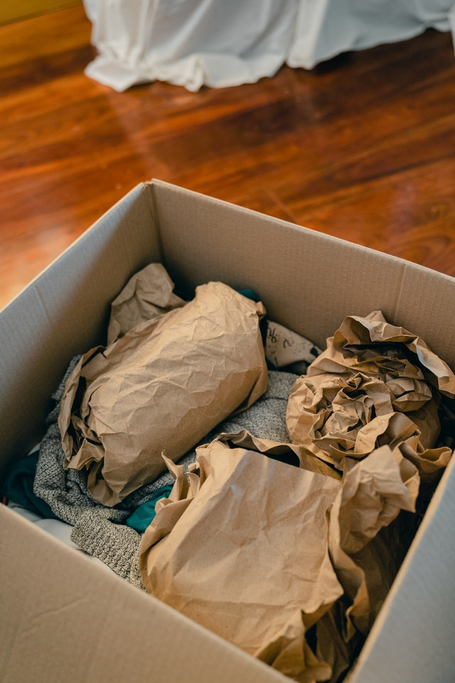 packing fragile items