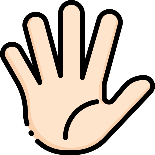 A hand waving hello.
