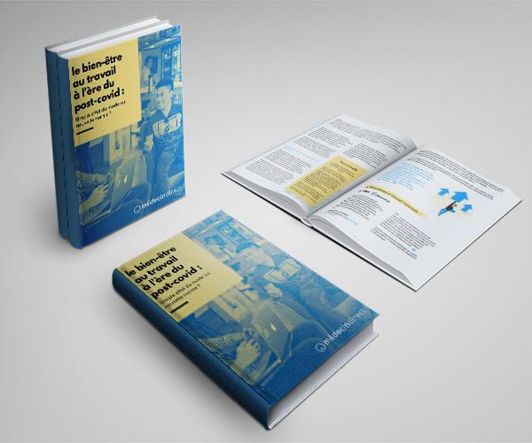 photographie d'un livre blanc sur le bien-être au travail à l'ère du post-covid