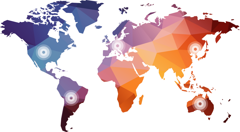 grande carte géographique colorée