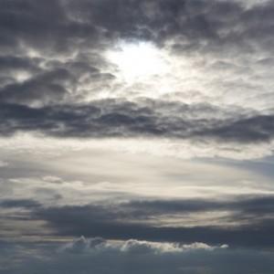 Depression anxieux peur nuages ciel triste