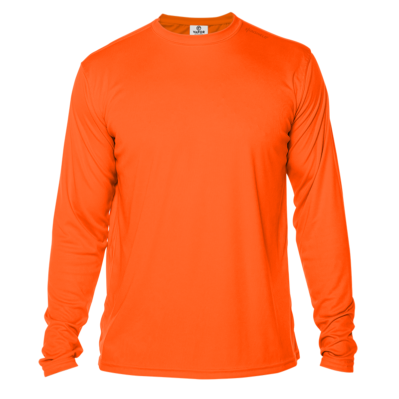 Long Sleeve Men - Safety Orange
