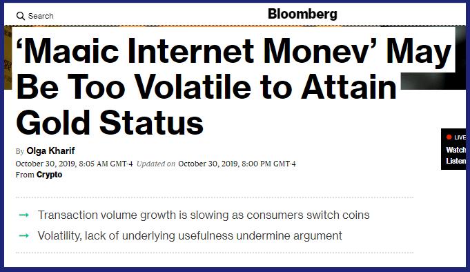 Reportagem Bloomberg sobre Bitcoin