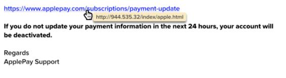 email malicioso