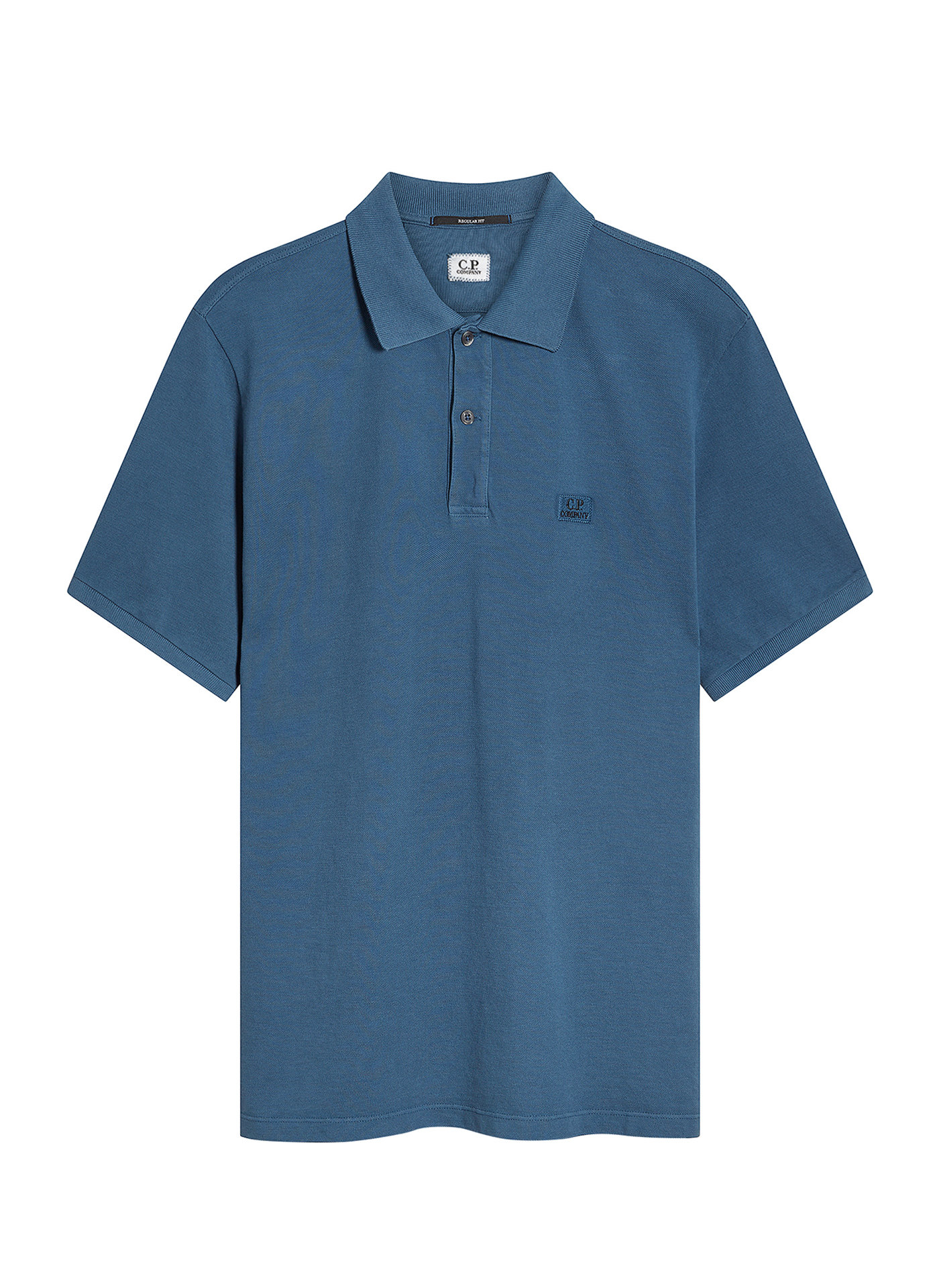 light navy C.P. polo shirt on white background