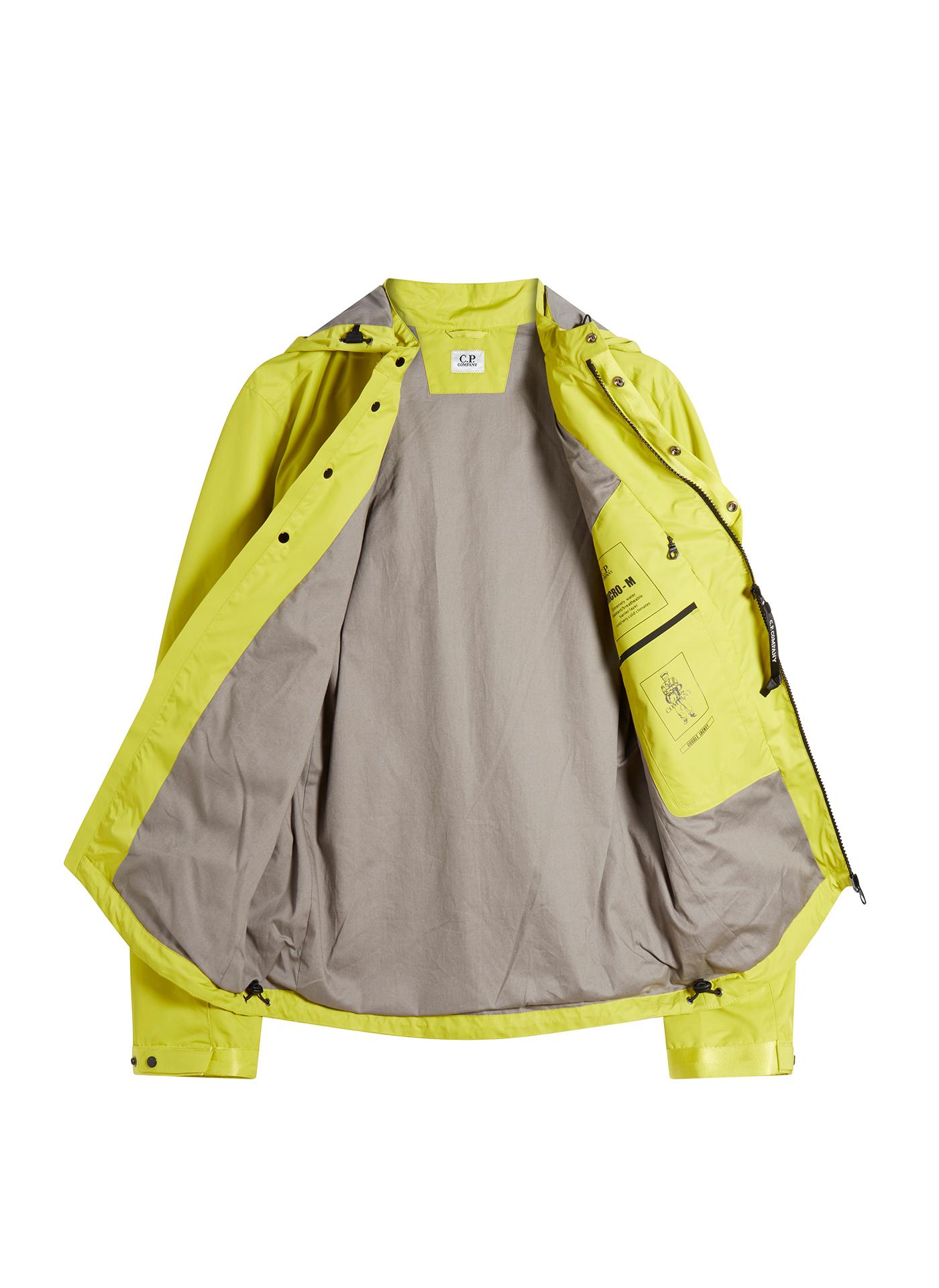 C.P. Company Yellow jacket opened on white background