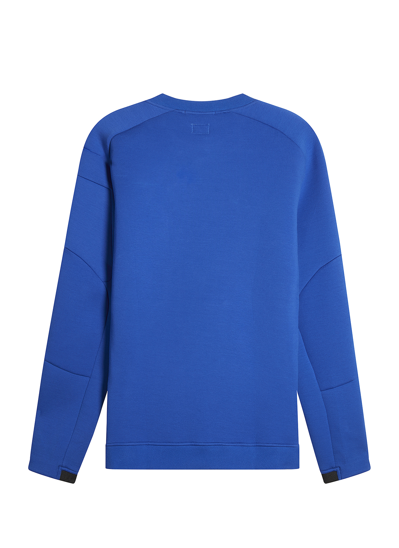Back side of the blue C.P. Company Jumper on white background