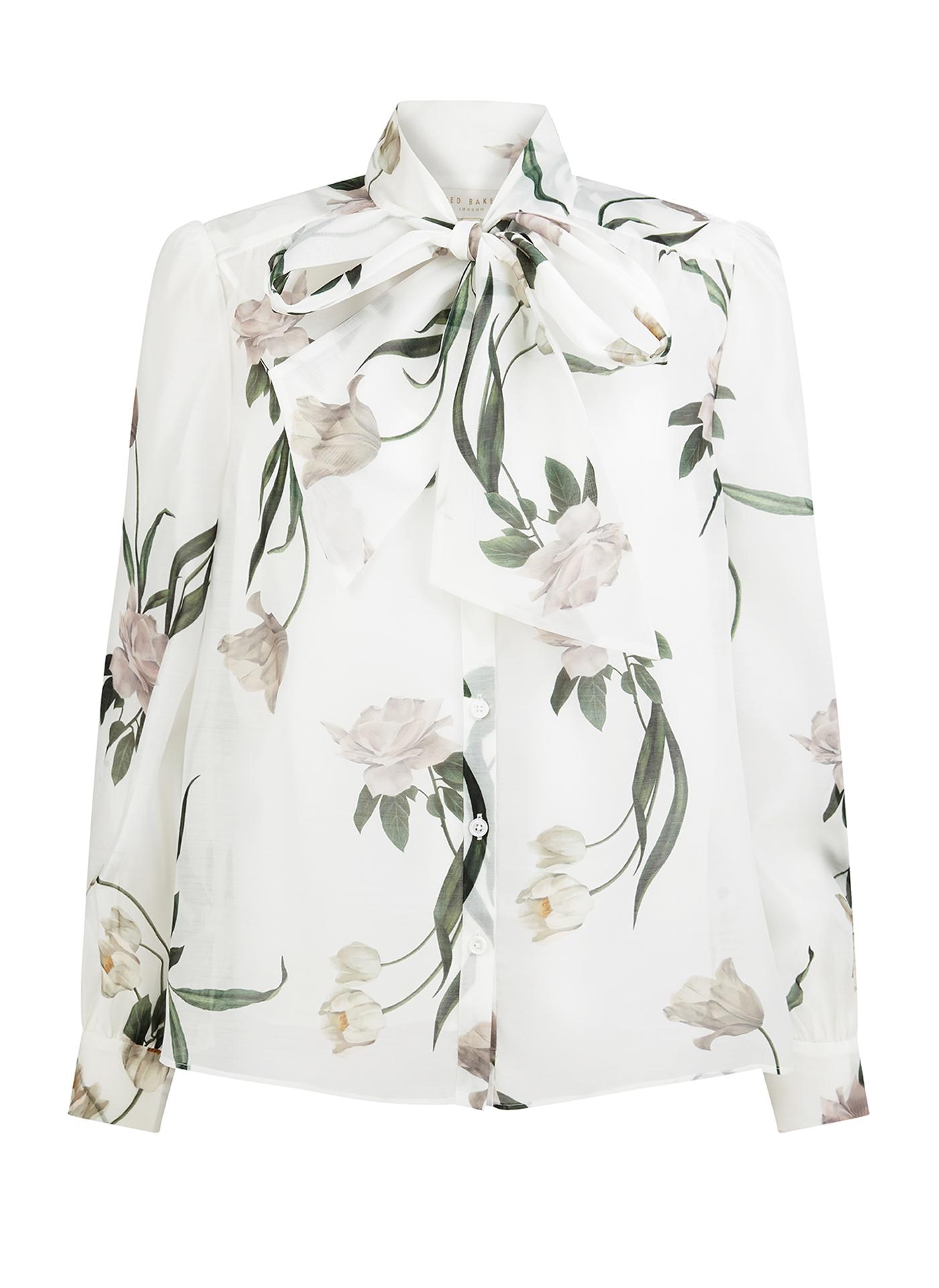 Light Ted Baker floral shirt on white
