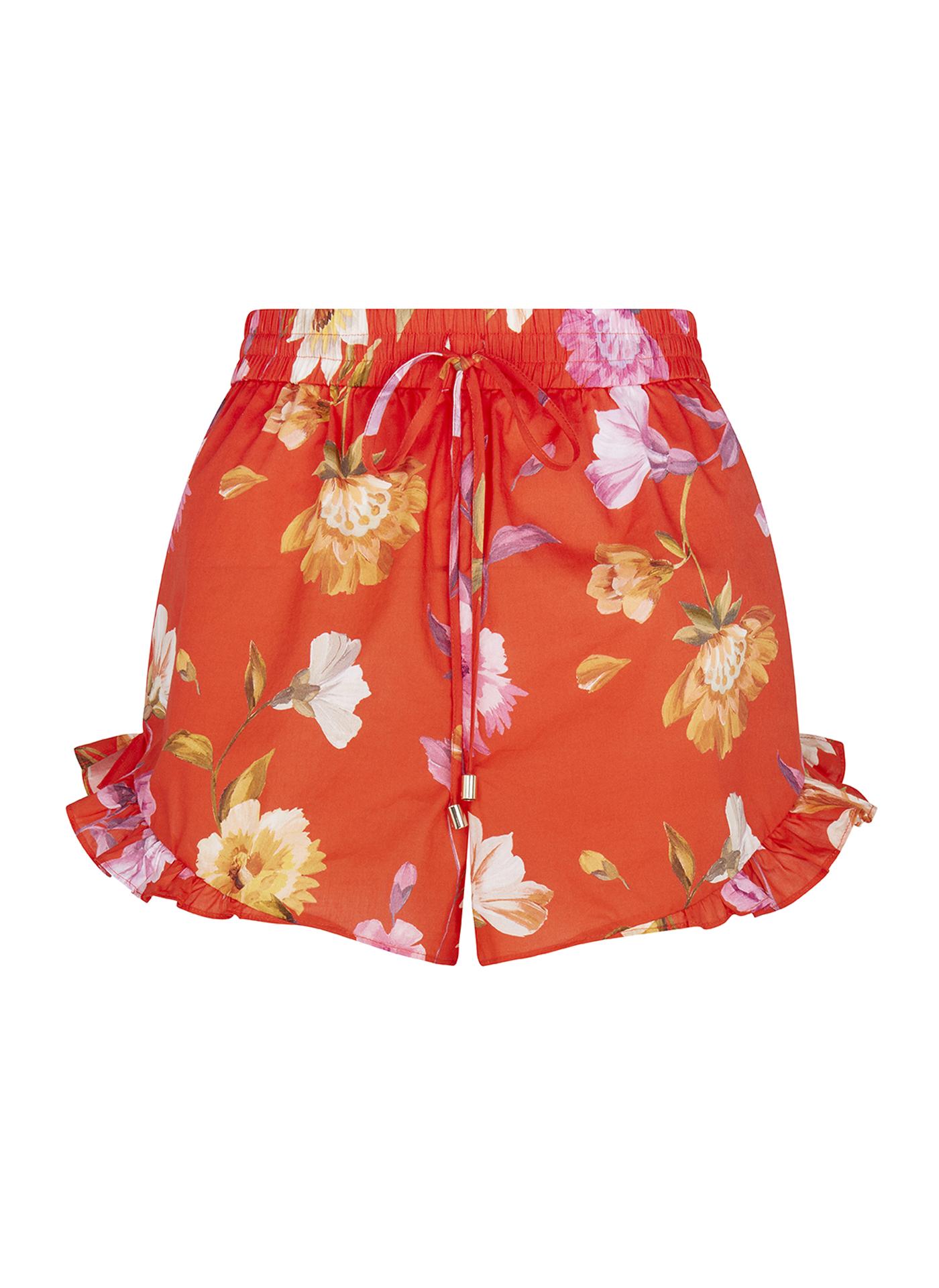 Bright orange floral Ted Baker shorts