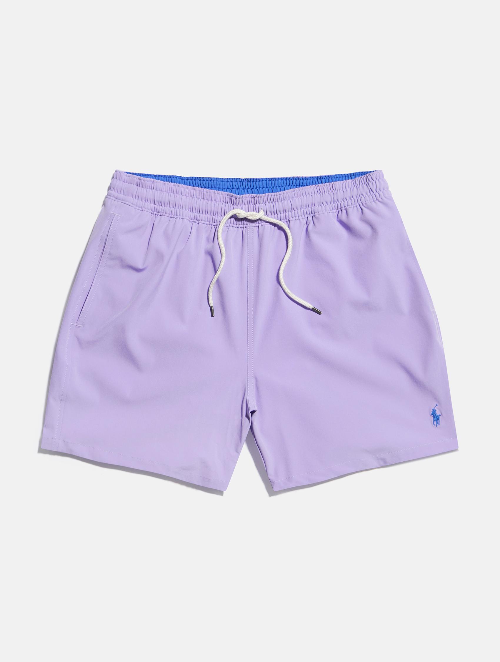 Light purple with blue detailing Ralph Lauren swimming shorts