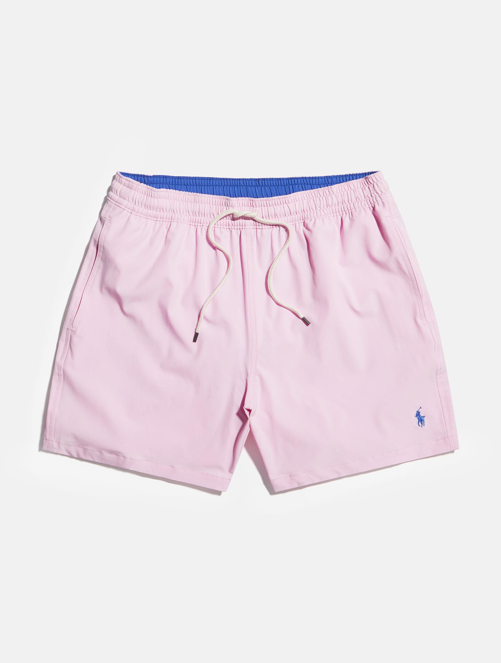 Light pink with blue detailing Ralph Lauren swimming shorts