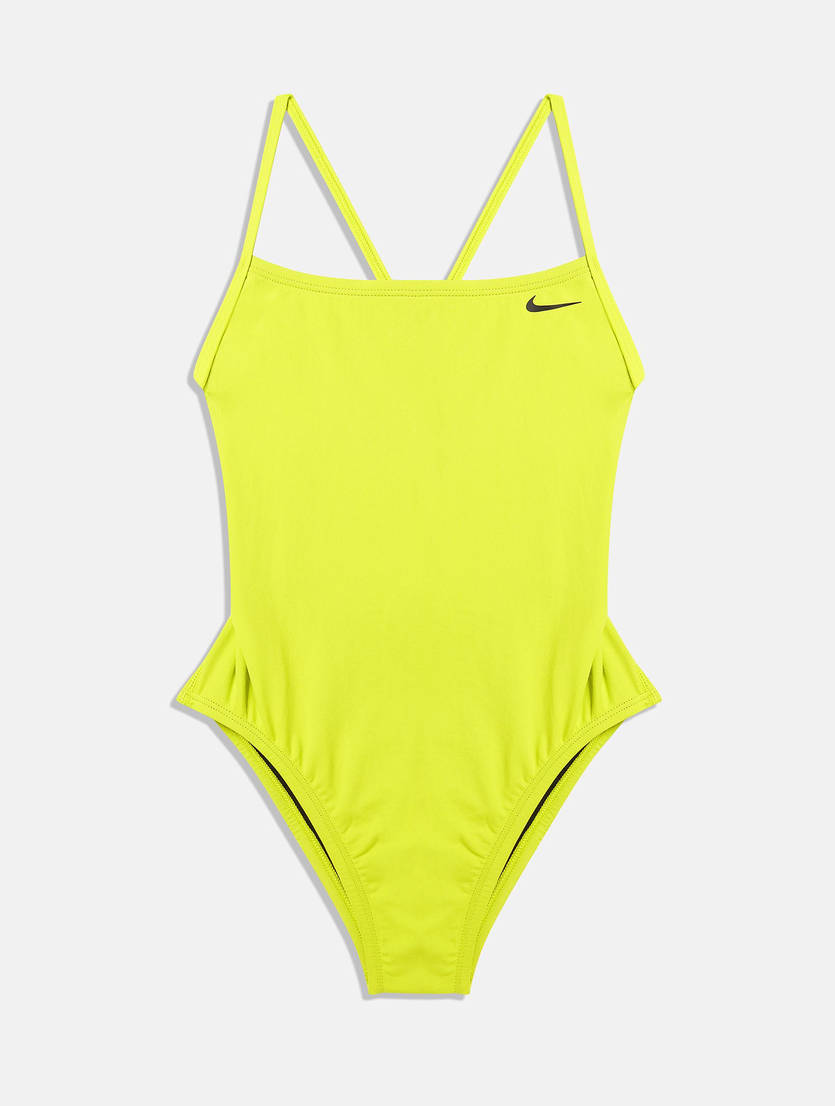 bright yellow Nike swimming bikini , swimwear