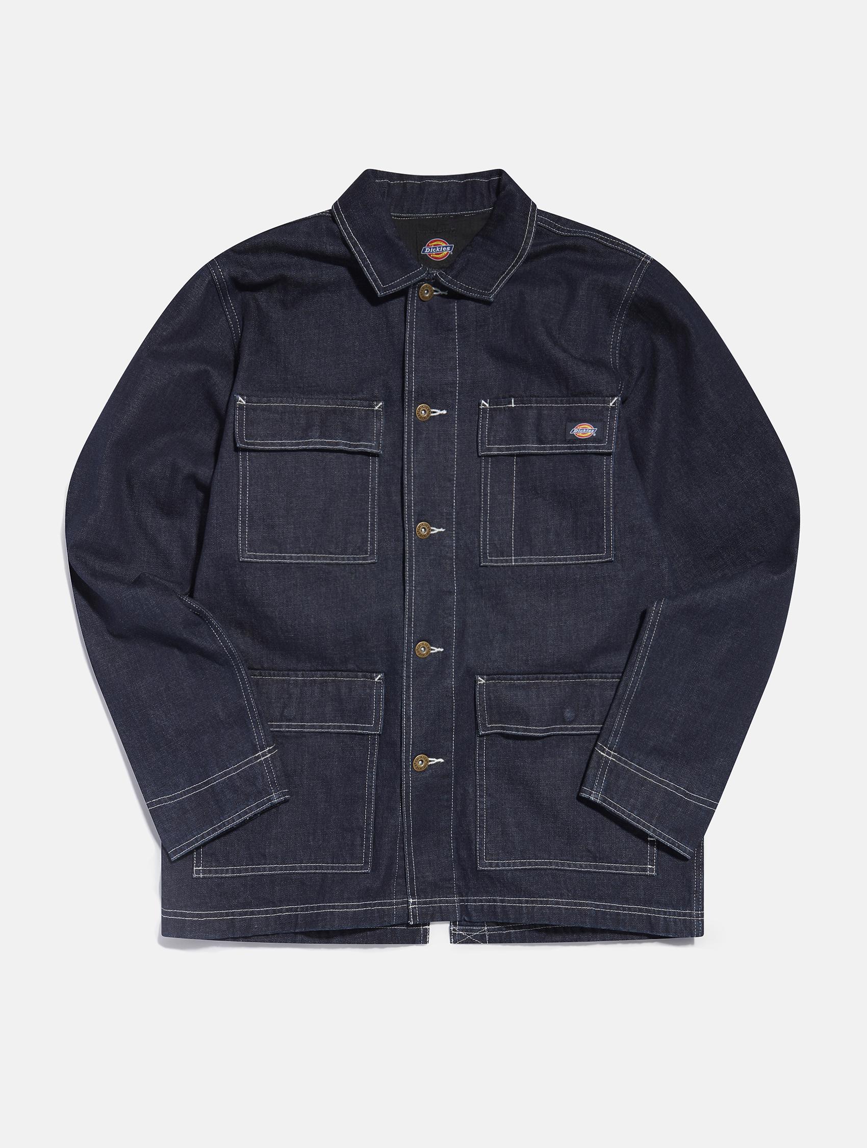 Dickies Long sleeve dark blue denim jacket