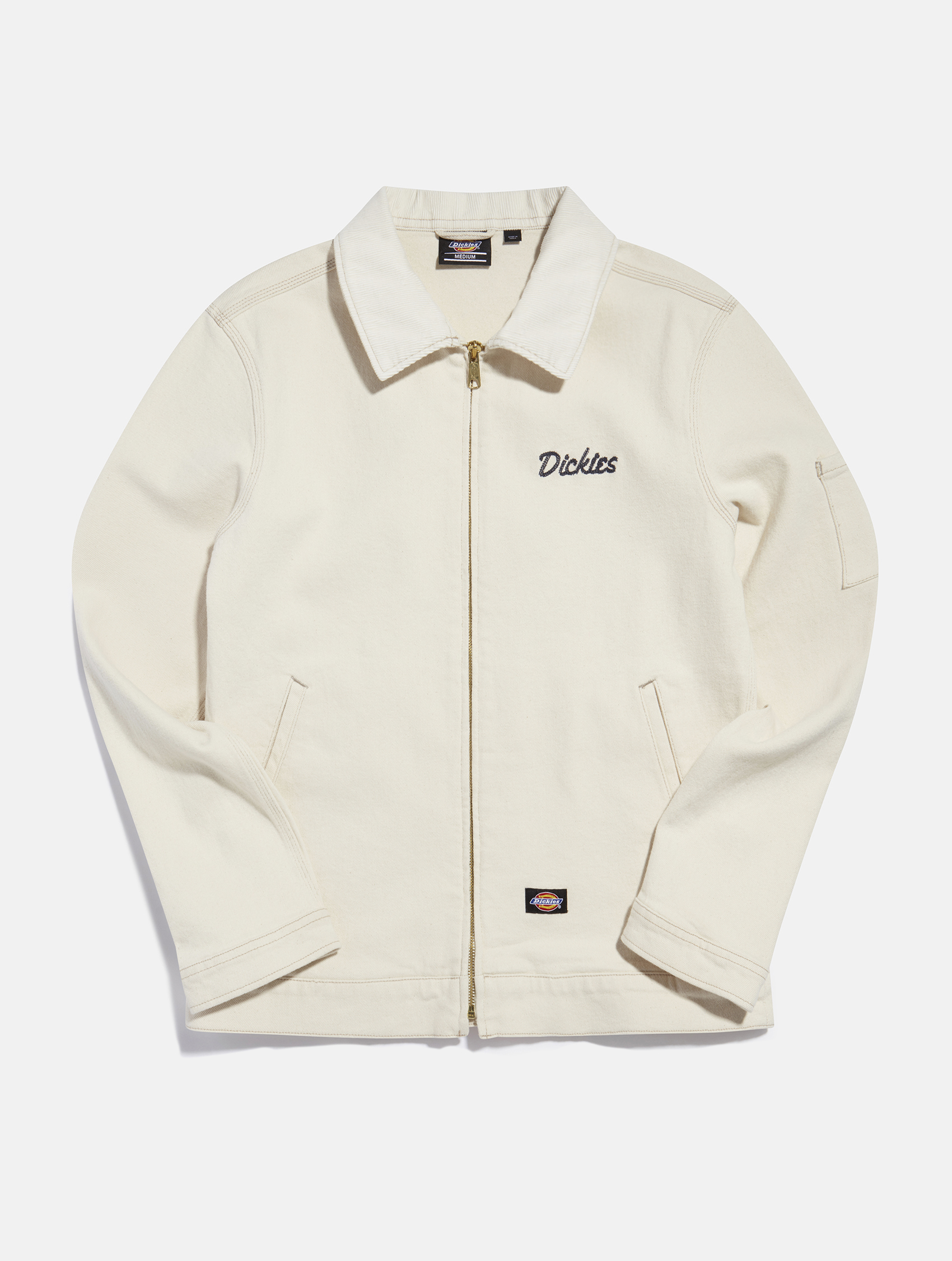 White long sleeve shirt,jacket by Dickies   eCommerce Photography London