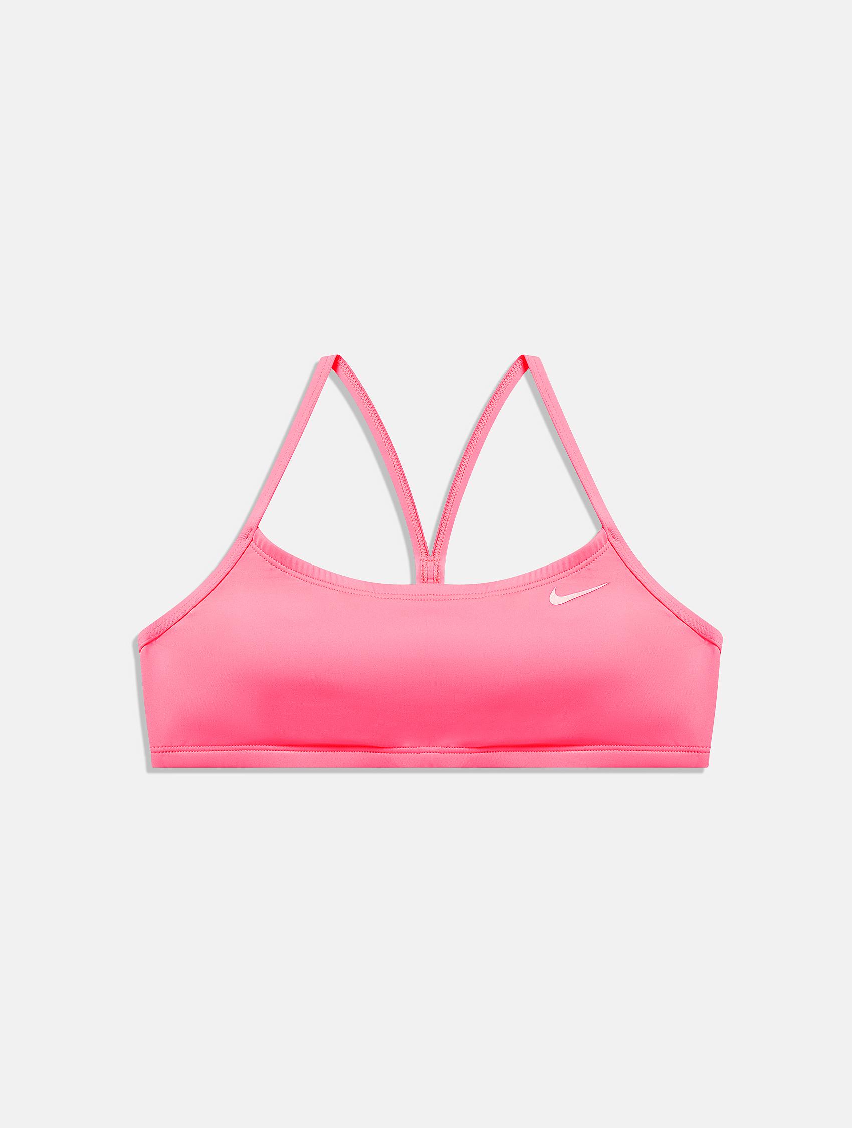 Pink Nike swimming top bra