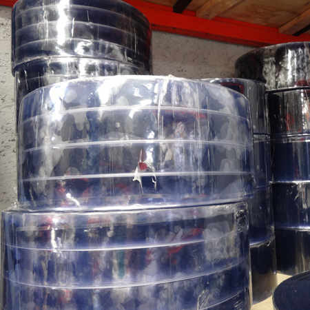 PVC para Cortina Hawaiana Polar con Costilla