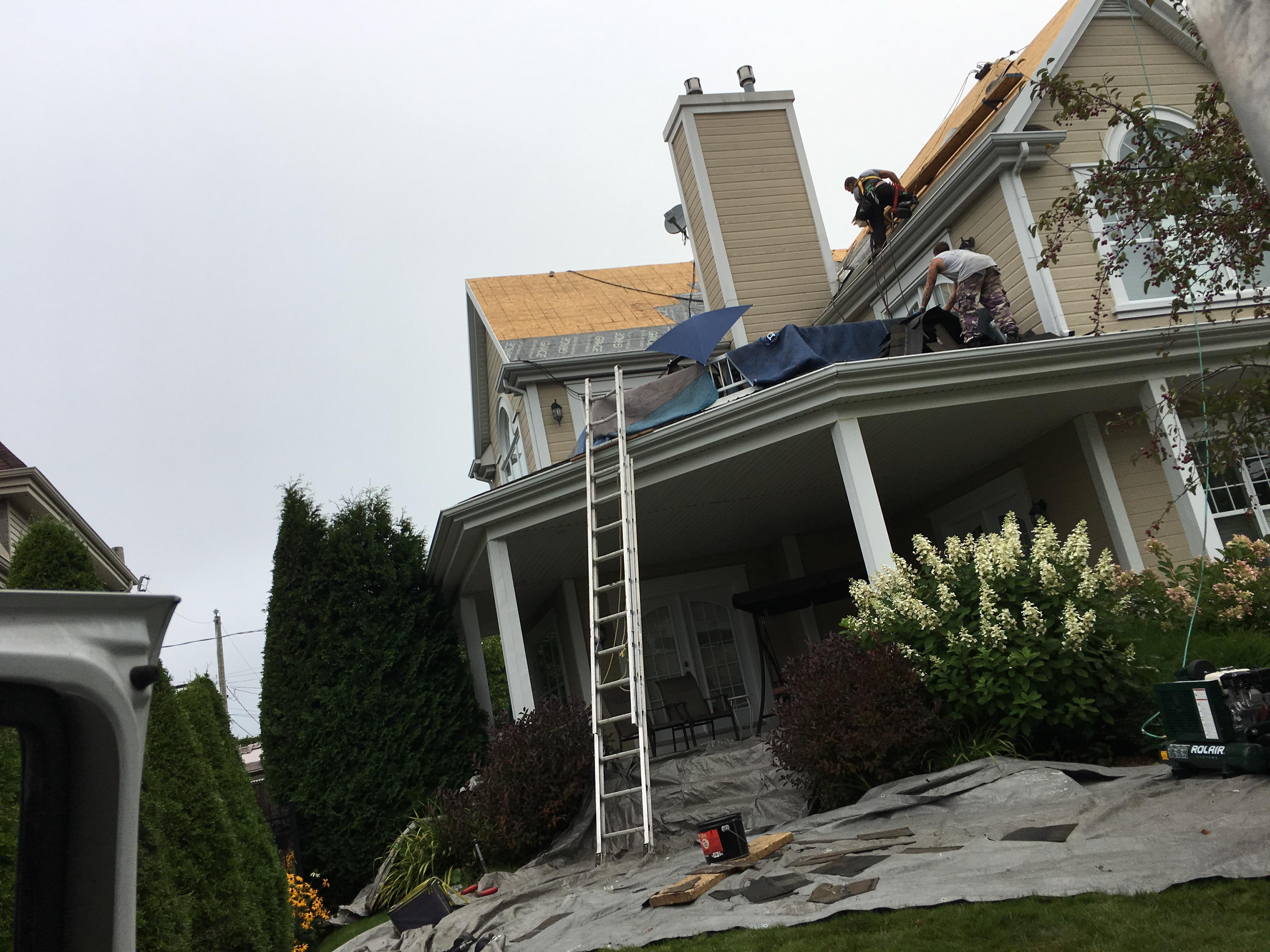 Rénovation d'une toiture résidentielle