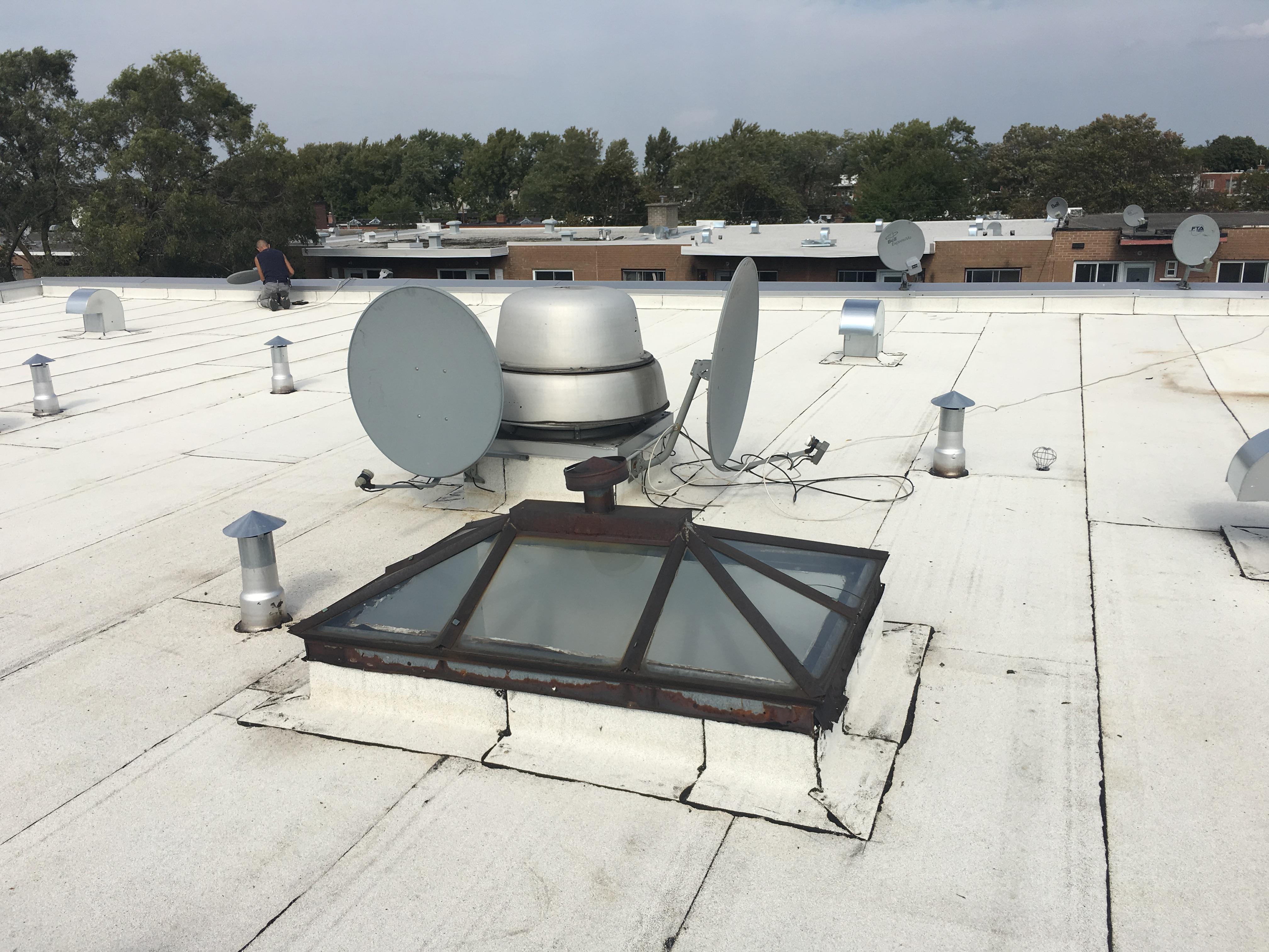Rénovation d'une toiture commerciale