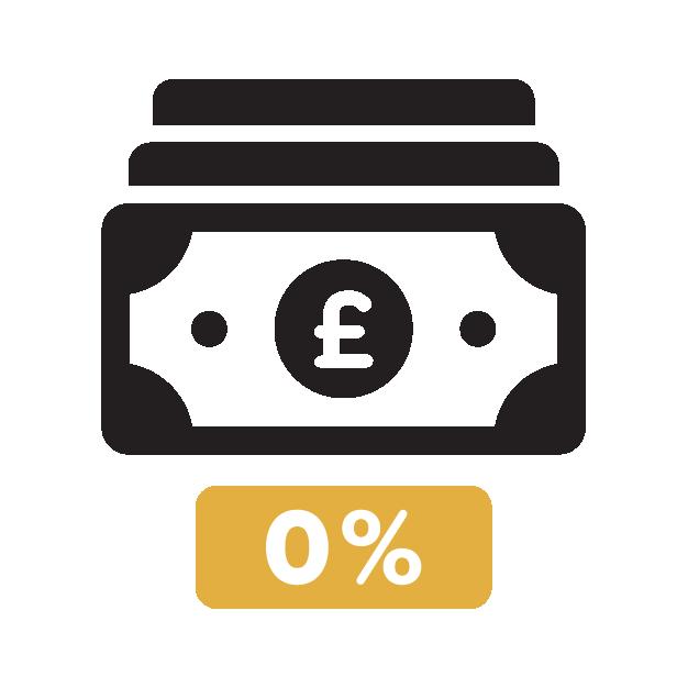 0% deposit