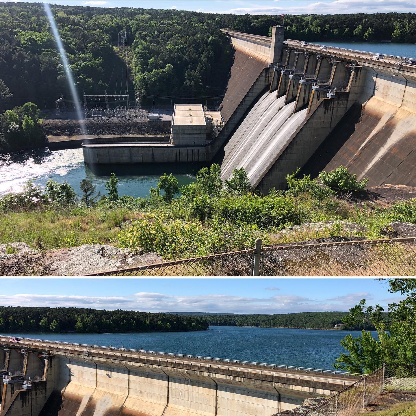 Scenic stop at Greers Ferry Dam in Arkansas today while travel