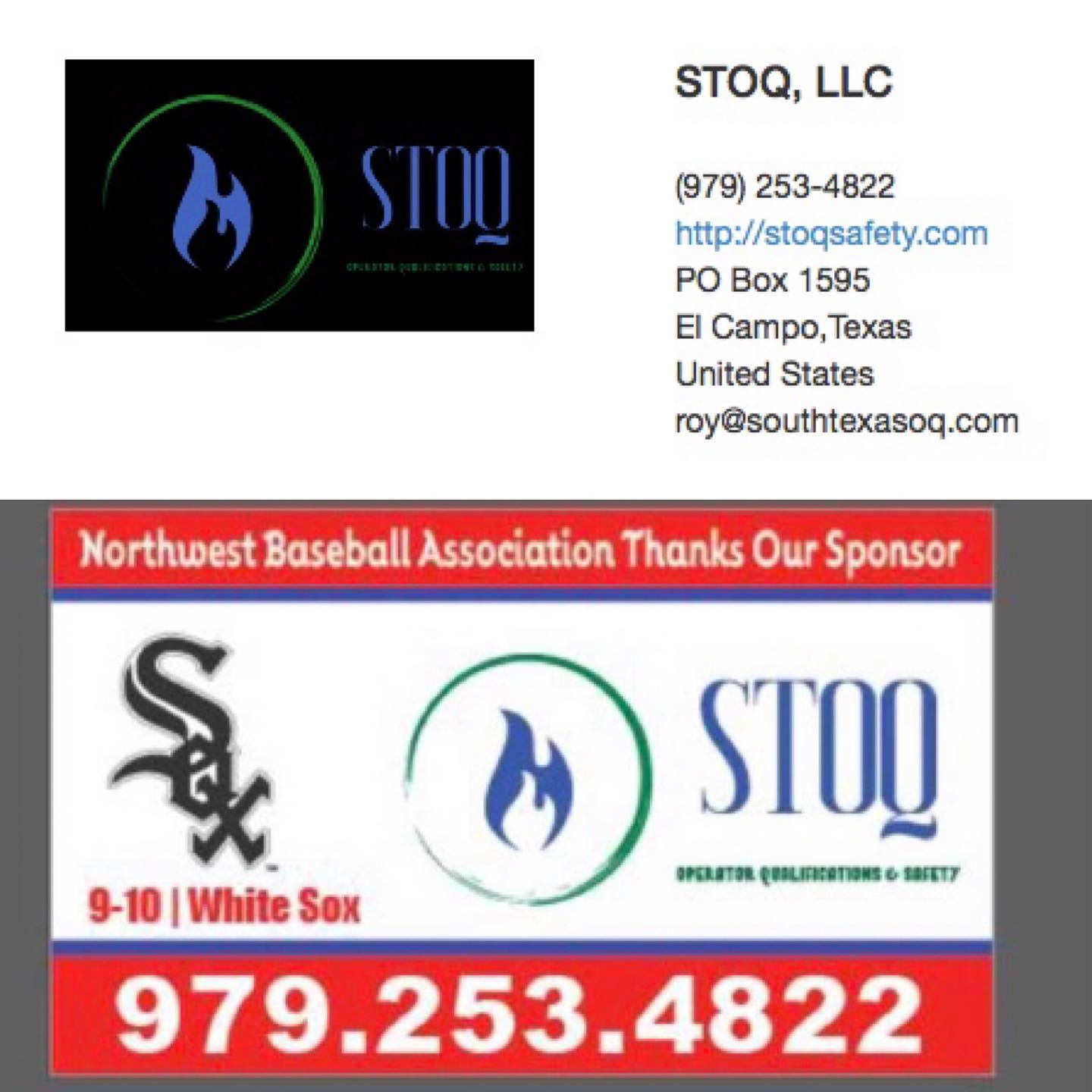 We are excited to sponsor the White Sox 9-10 year olds of the