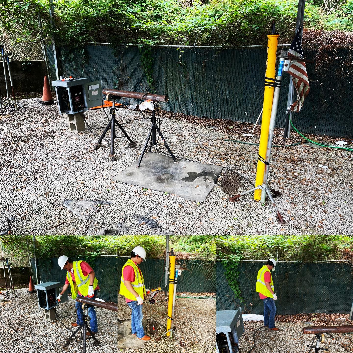 Performing Cathotic Protection Survey with Weld Spec, Inc. out