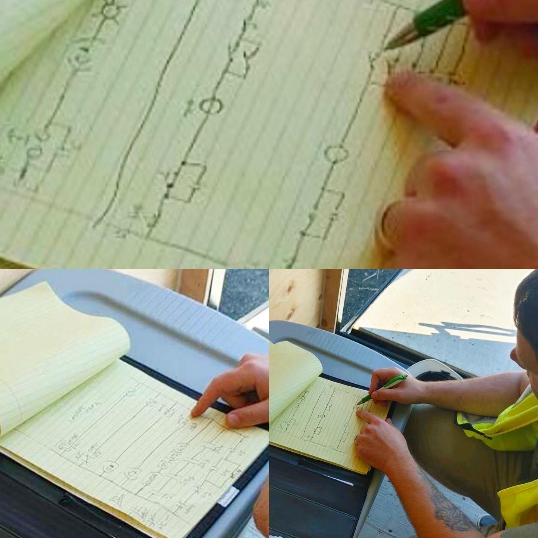 Drawing Ladder Logic during PLC evaluation. #allenbradleyplc #