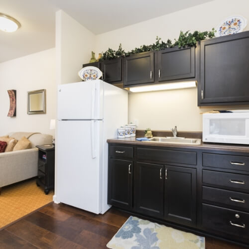 assisted living wichita 1 bed kitchen