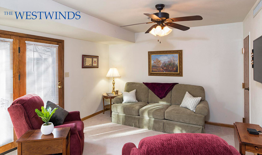 westwinds two bed living