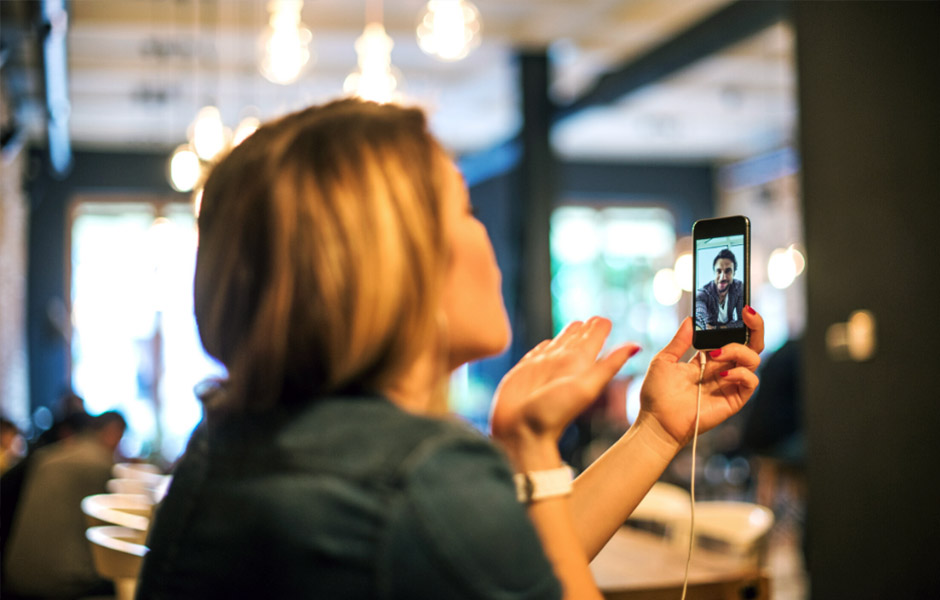 woman video calling