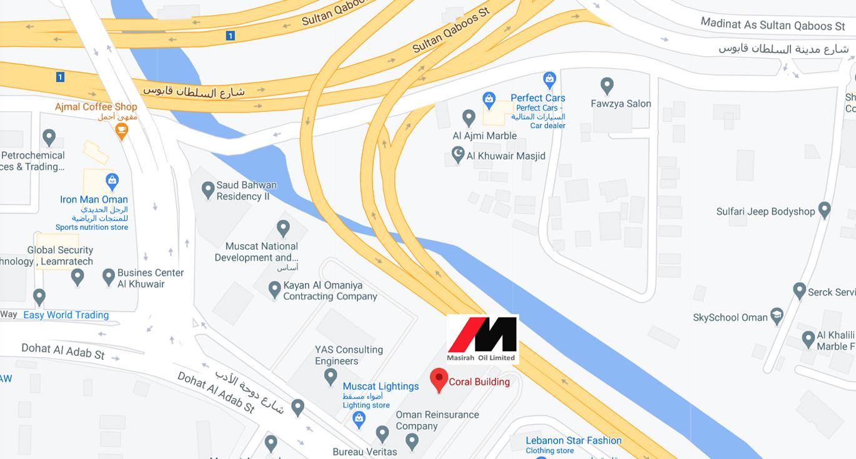 Masirah Oil Location Map