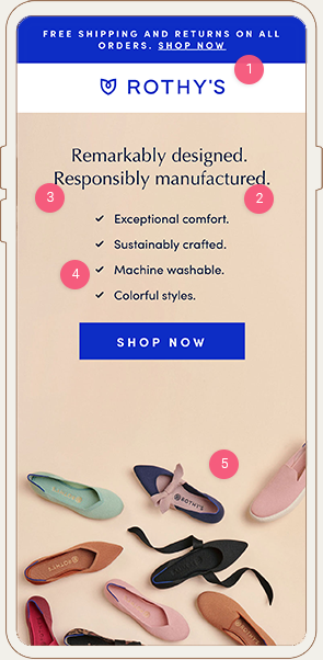 Rothy's Mobile Landing Page