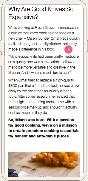 Misen Ad Landing Page