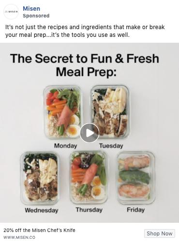 Misen's Facebook Ad