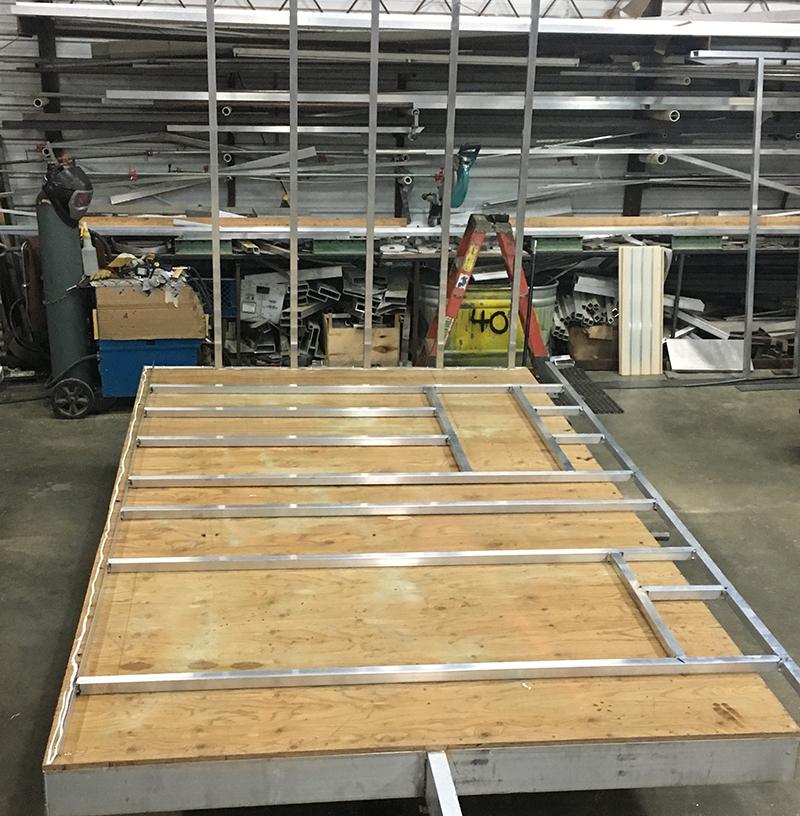 Build process of mobile sauna unit