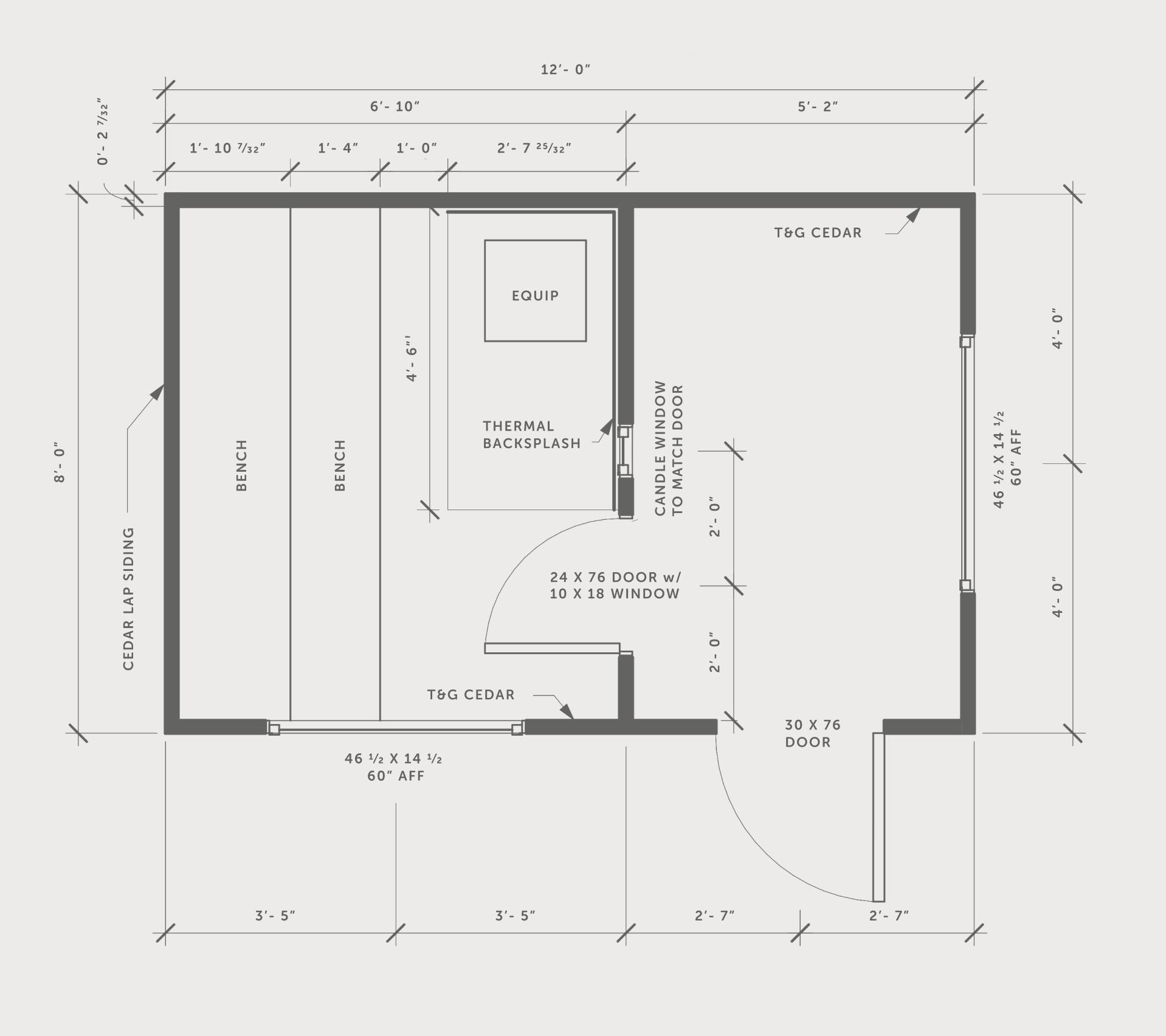 Backyard sauna blueprints