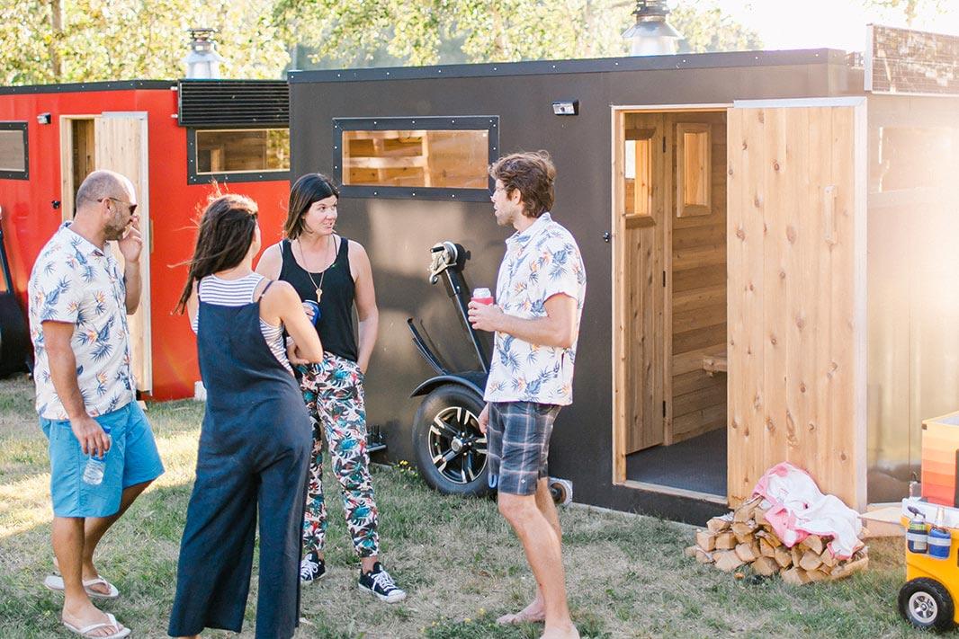 Window of mobile sauna