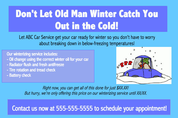 winterization car service