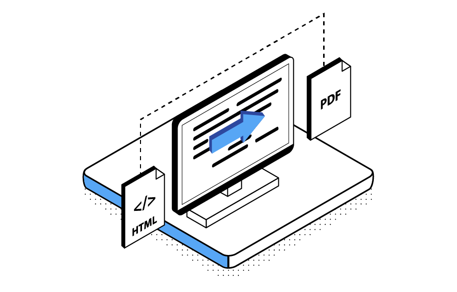 HTML Into PDF Rendering