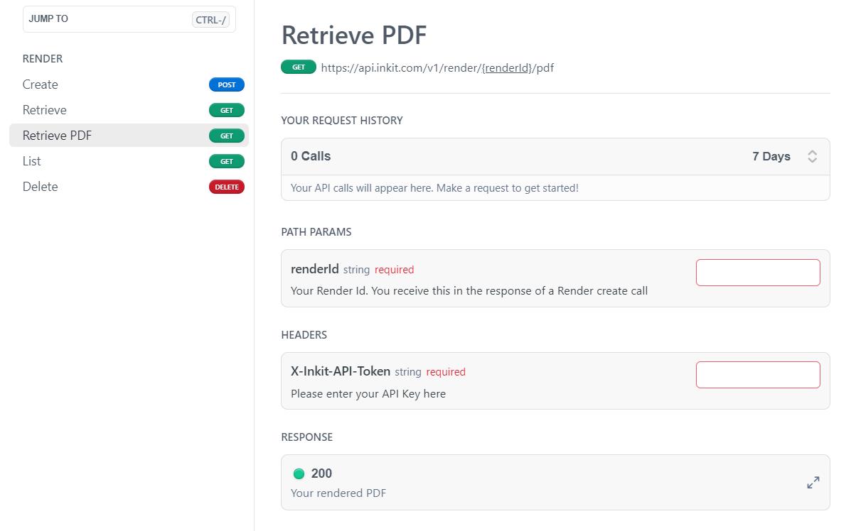 HTML into PDF API