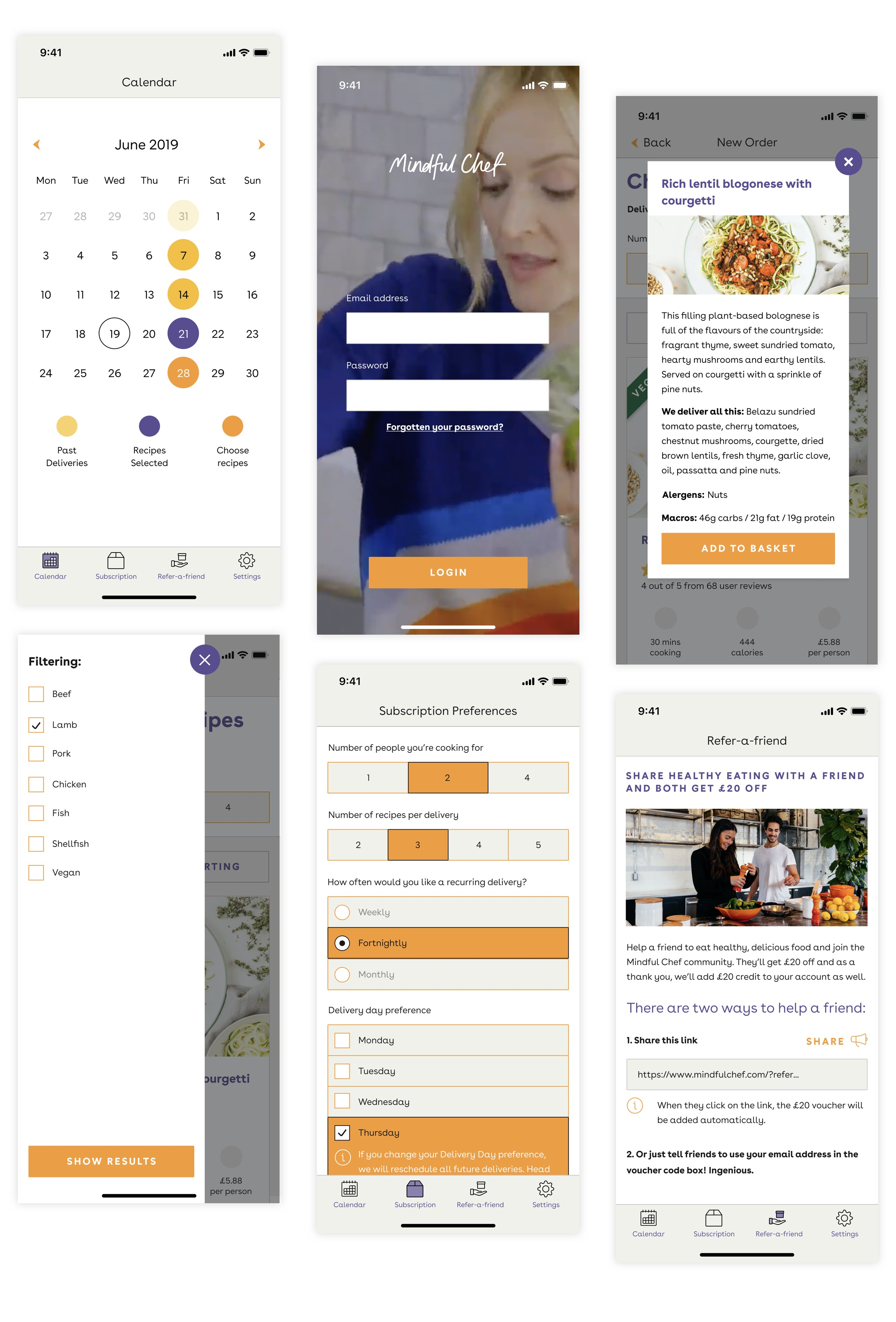 Mindful Chef - Product Designs
