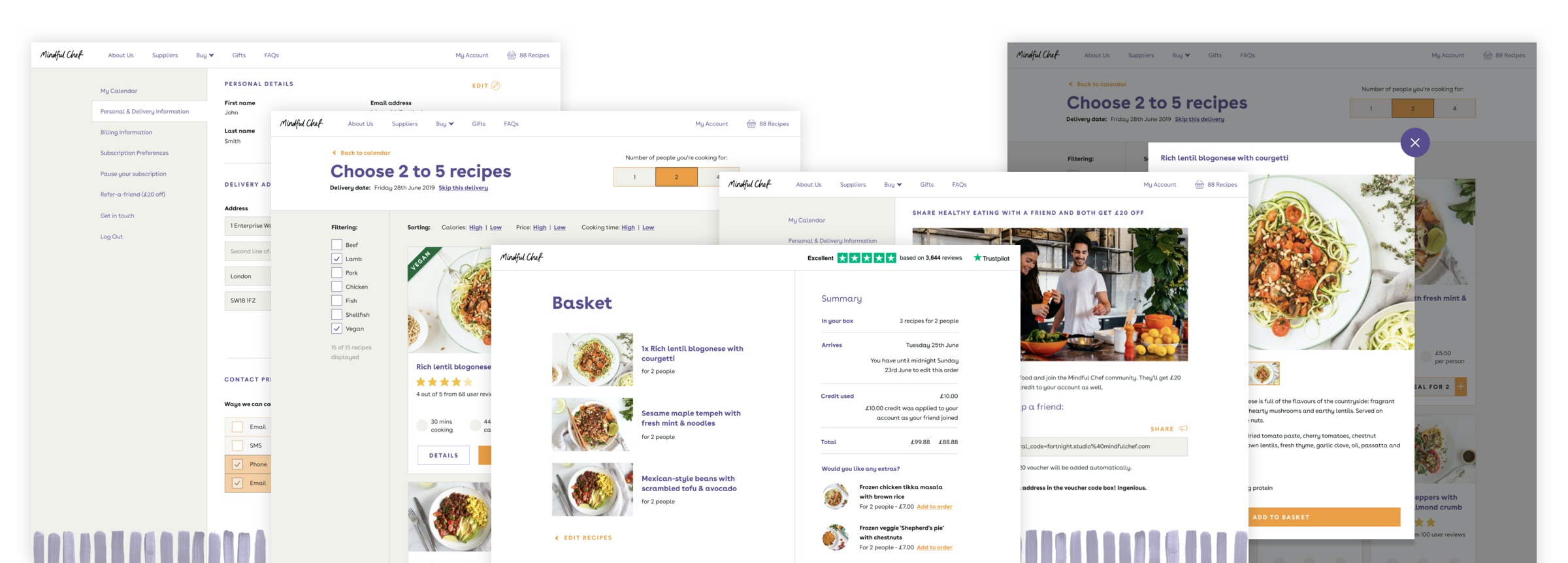 Mindful Chef - Web Designs